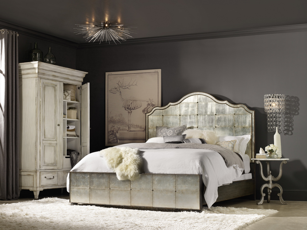 Hooker Furniture - California  King Mirrored Panel Bed