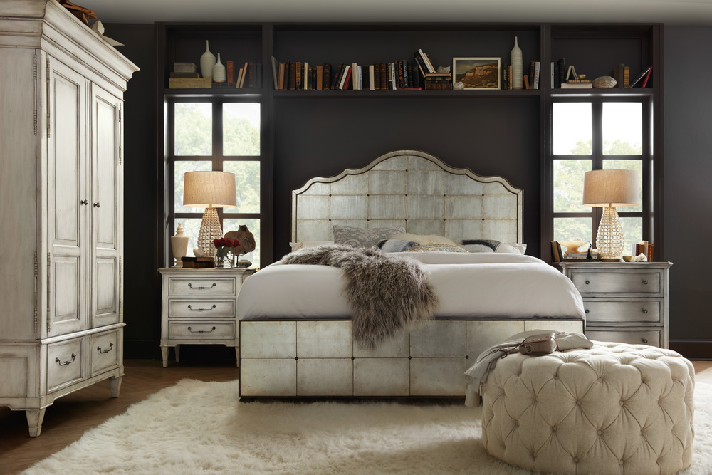 Hooker Furniture - King Mirrored Panel Bed