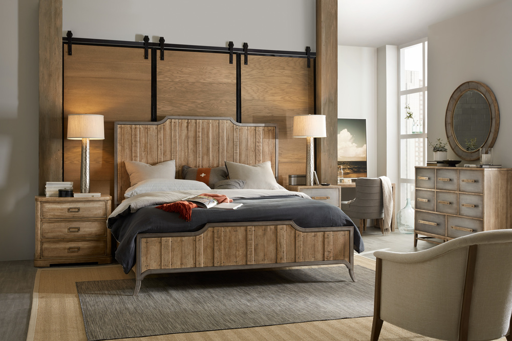 Hooker Furniture - California King Wood Panel Bed