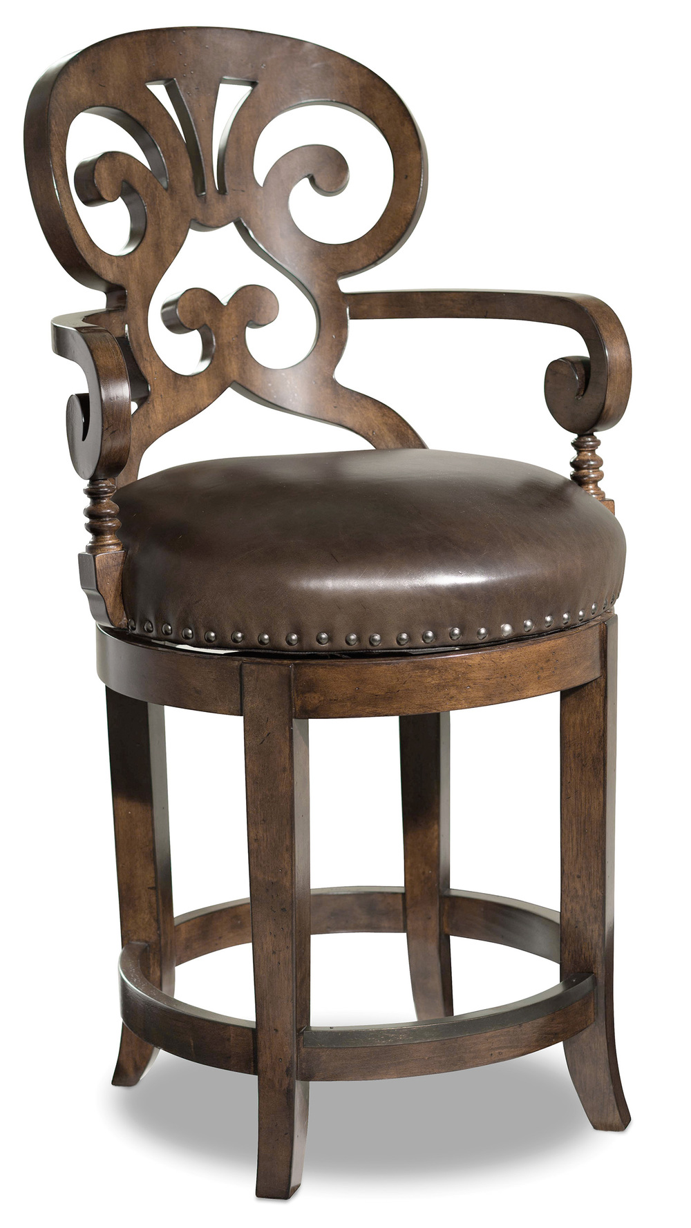 HOOKER FURNITURE CO - Jameson Cottage Leather Counter Stool