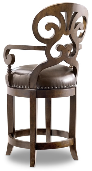Thumbnail of HOOKER FURNITURE CO - Jameson Cottage Leather Counter Stool