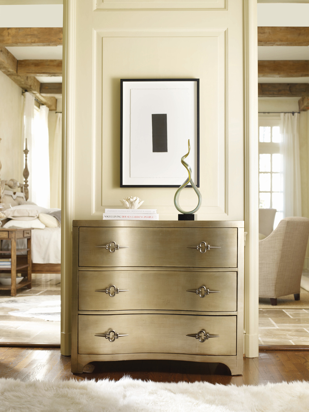 Hooker Furniture - Sanctuary Three Drawer Shaped Front Gold Chest