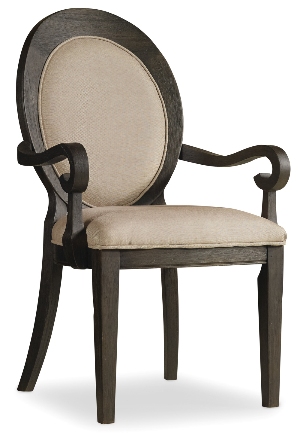 Hooker Furniture - Corsica Dark Oval Back Arm Chair