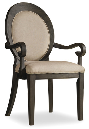 Thumbnail of Hooker Furniture - Corsica Dark Oval Back Arm Chair