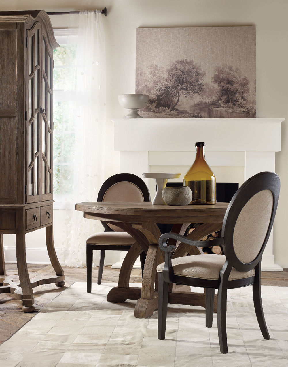 Hooker Furniture - Corsica Dark Oval Back Side Chair