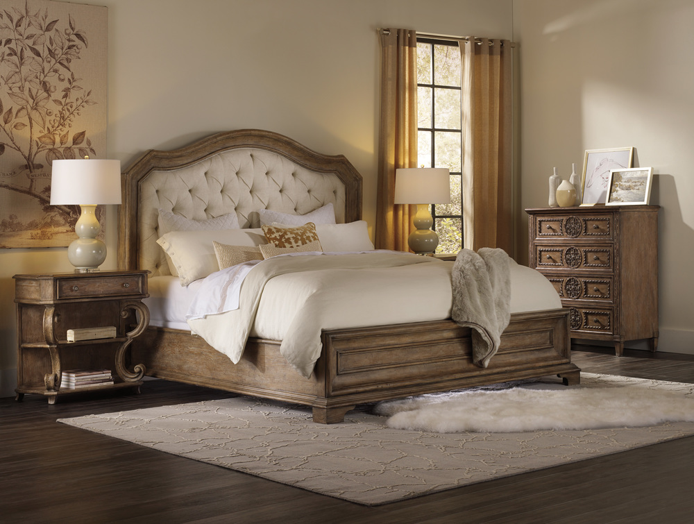 Hooker Furniture - King Upholstered Panel Bed