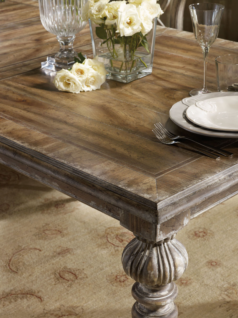 Hooker Furniture - Chatelet Rectangular Leg Dining Table with Two Leaves