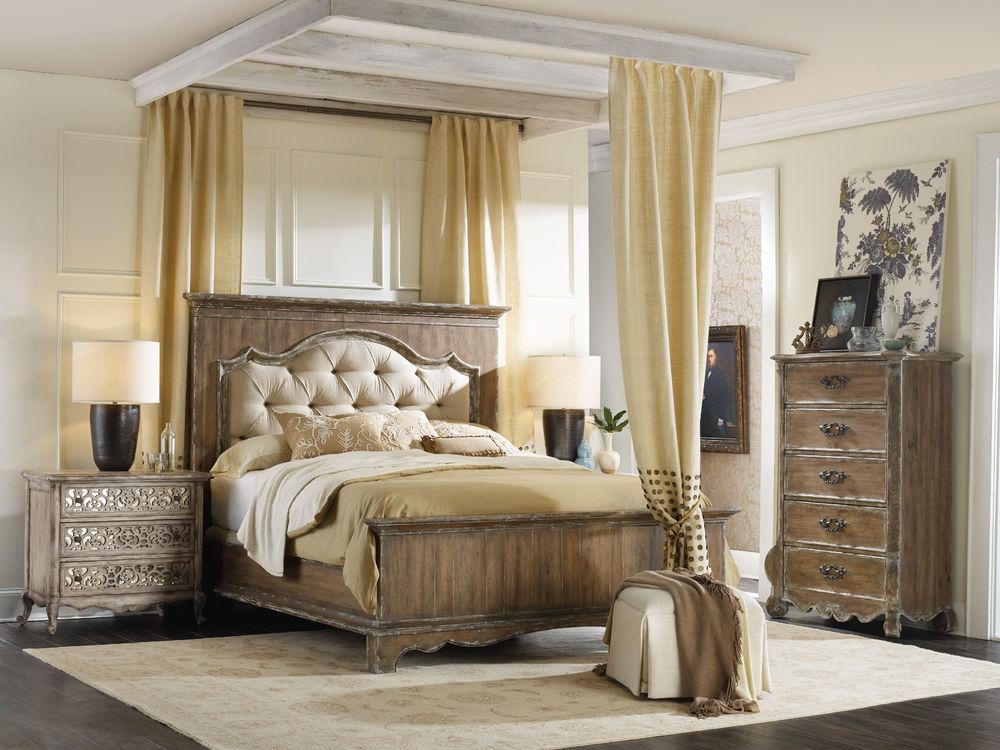 Hooker Furniture - King Upholstered Mantle Panel Bed