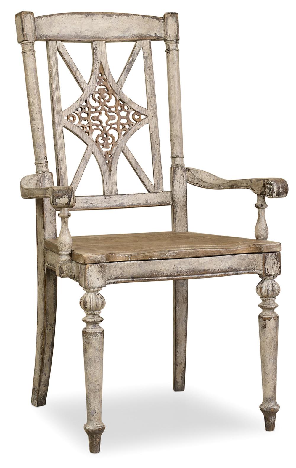 HOOKER FURNITURE CO - Fretback Arm Chair
