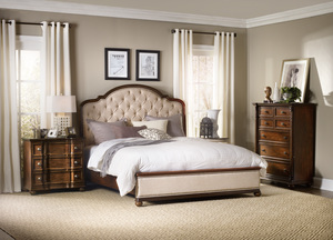Thumbnail of Hooker Furniture - King Upholstered Bed w/ Wood Rails