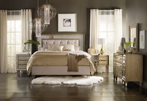 Thumbnail of Hooker Furniture - King Mirrored Upholstered Bed