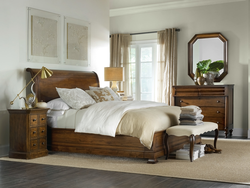 Hooker Furniture - California King Sleigh Bed with Low Footboard