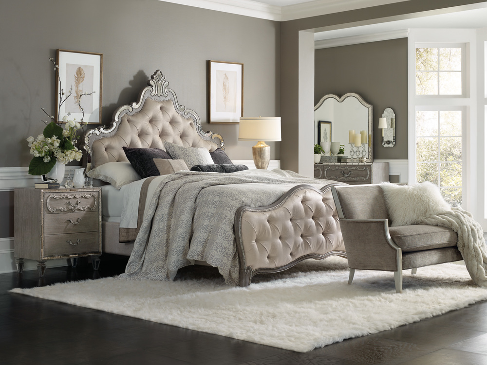 Hooker Furniture - Upholstered California King Panel Bed