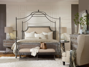 Thumbnail of Hooker Furniture - King Upholstered Fabric Canopy Bed