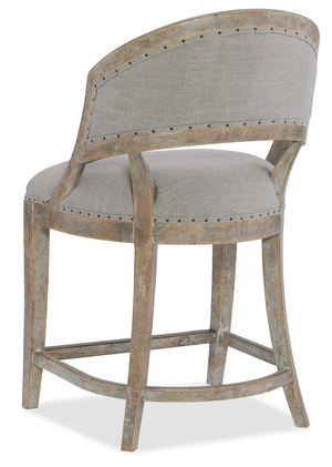 Thumbnail of Hooker Furniture - Garnier Barrel Back Counter Stool