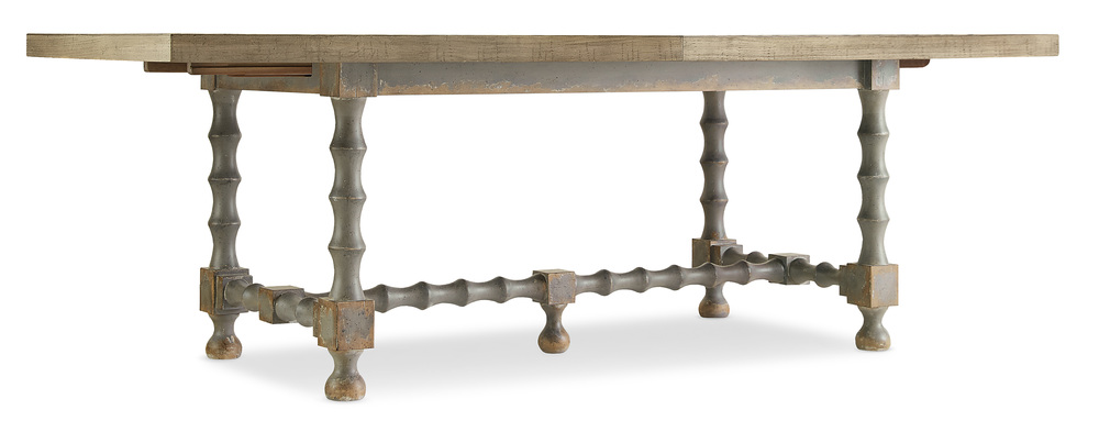 Hooker Furniture - Trestle Table with Two Leaves