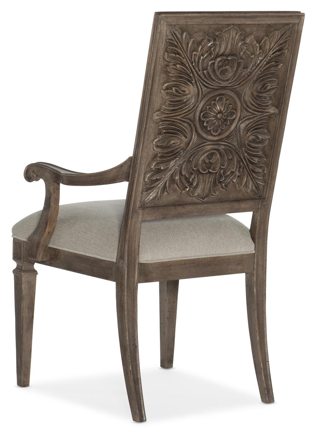 Hooker Furniture - Carved Back Arm Chair