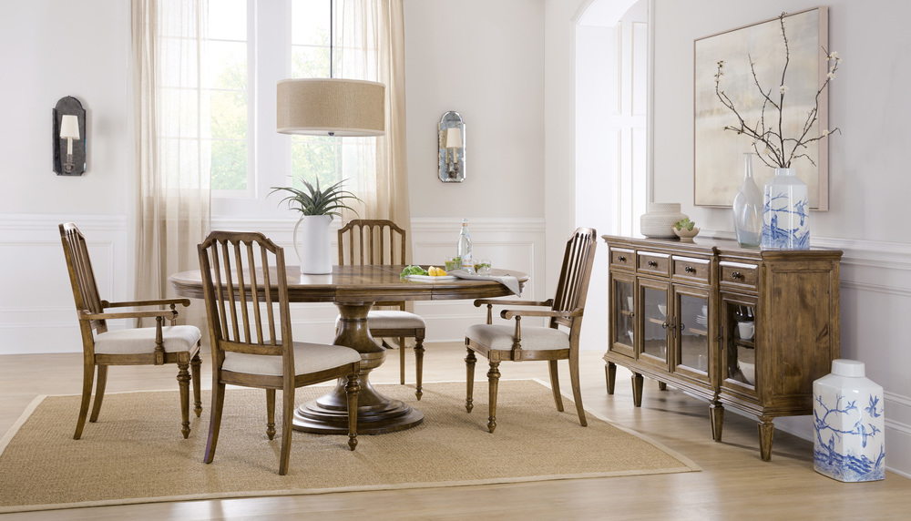 Hooker Furniture - Round Dining Table with One Leaf