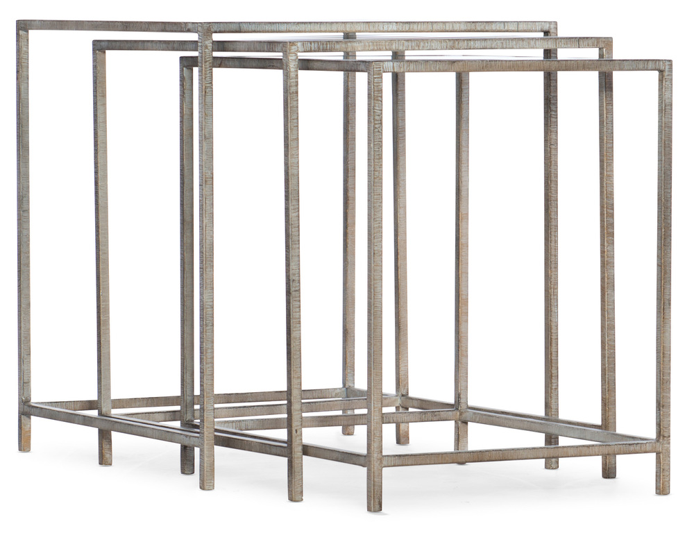 Hooker Furniture - Wavecrest Metal and Glass Nesting Tables