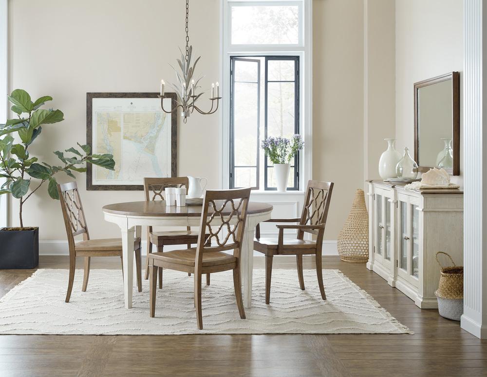 Hooker Furniture - Wood Seat Arm Chair, 2/ctn