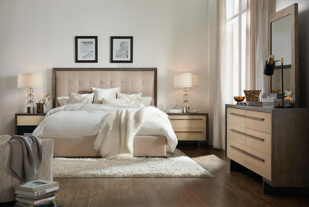 Hooker Furniture - Angelico Queen Upholstered Panel Bed