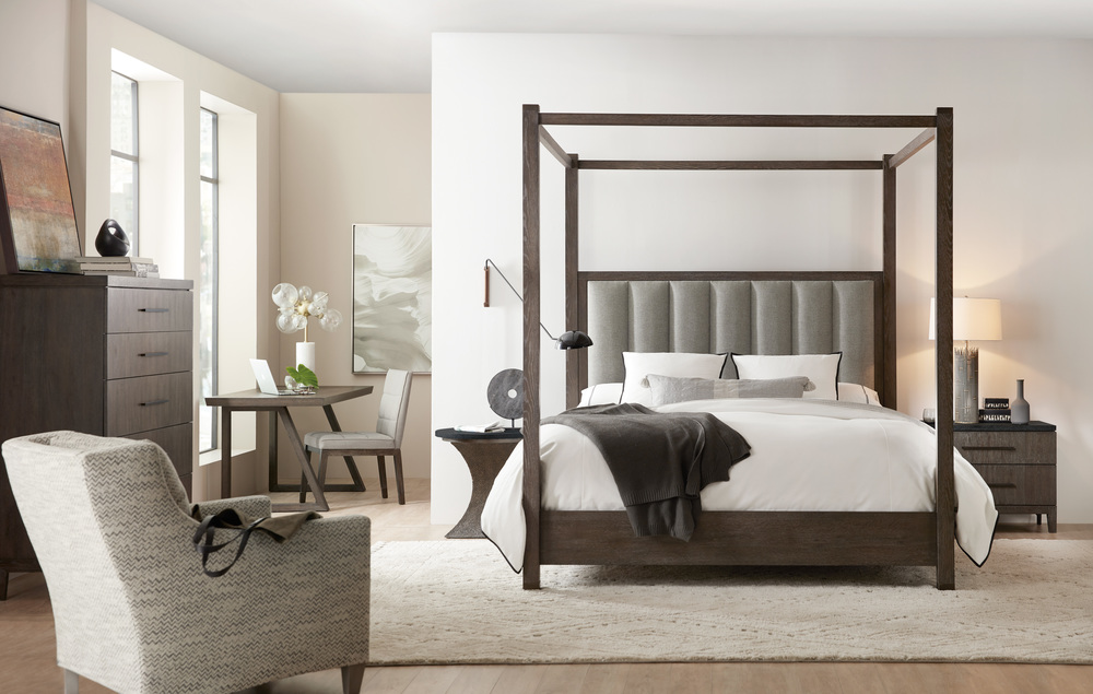 Hooker Furniture - Jackson California King Poster Bed with Tall Posts/Canopy