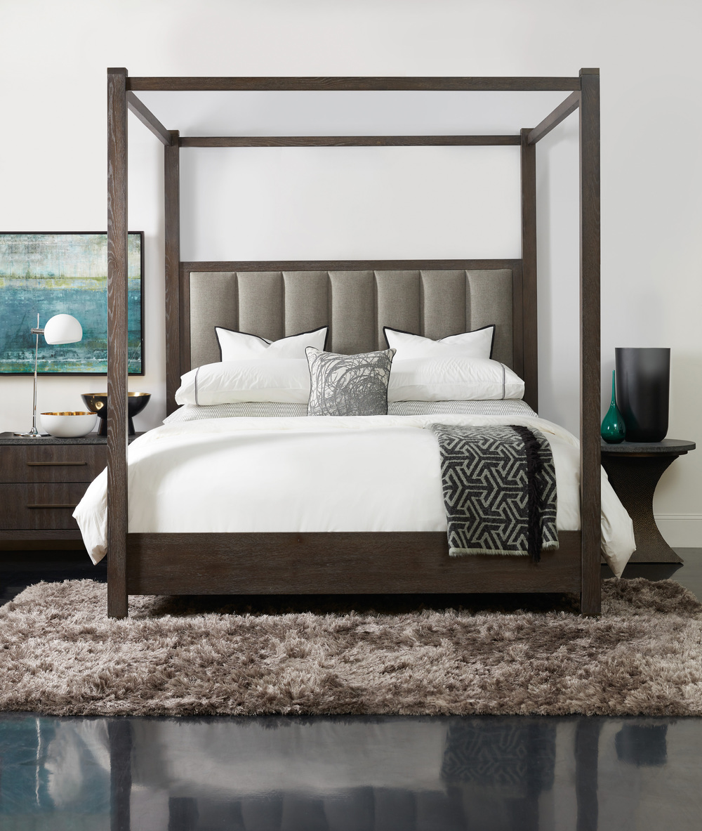 Hooker Furniture - Jackson King Poster Bed w/ Tall Posts/Canopy