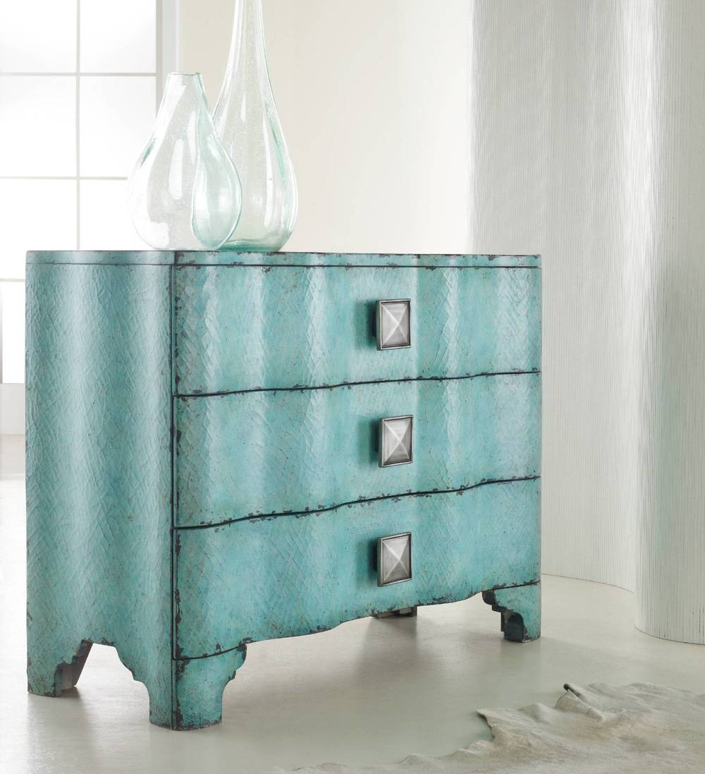 Hooker Furniture - Melange Turquoise Crackle Chest