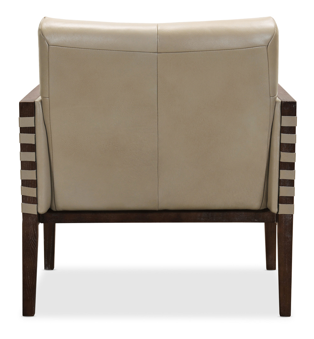HOOKER FURNITURE CO - Carverdale Leather Club Chair with Wood Frame