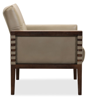 Thumbnail of HOOKER FURNITURE CO - Carverdale Leather Club Chair with Wood Frame