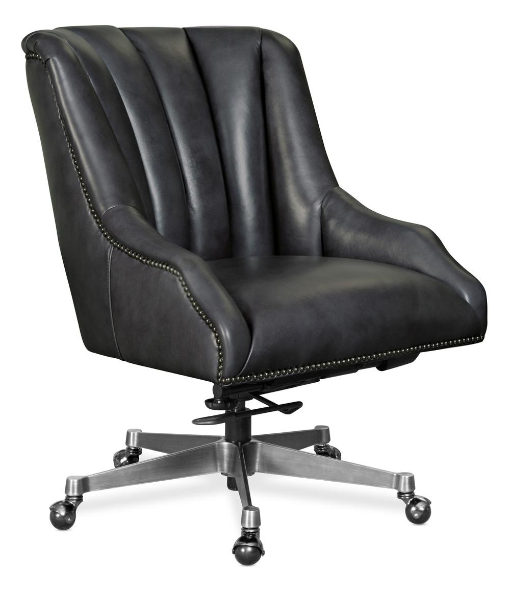Hooker Furniture - Executive Swivel Tilt Chair, Metal Base