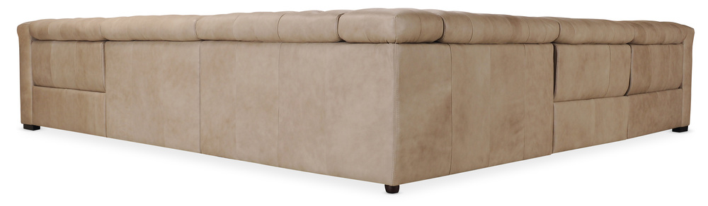 Hooker Furniture - Savion Grandier Five piece Power Leather Sectional Two Recliners with Power Headrest