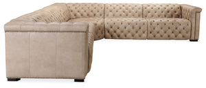 Thumbnail of Hooker Furniture - Savion Grandier Five piece Power Leather Sectional Two Recliners with Power Headrest