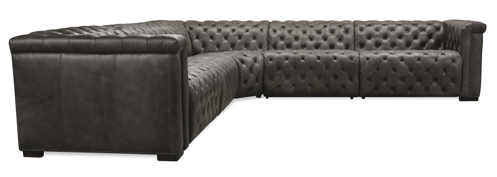 Hooker Furniture - Sectional with Two Power Recliners and Power Headrest, Five Piece