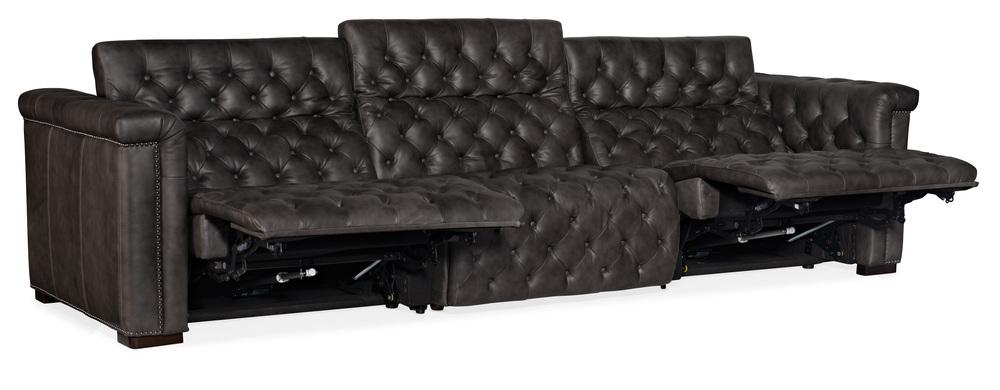 Hooker Furniture - Savion Grandier Sofa with Power Recliners and Power Headrest