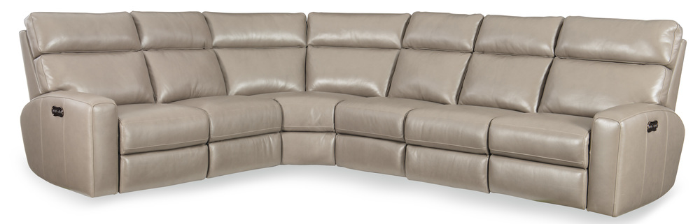 Hooker Furniture - Power Motion Sectional with Power Headrest, Four Piece
