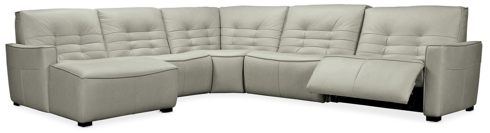 Hooker Furniture - Reaux Left Arm Facing Chaise Sectional with Two Power Recliners, 5 Piece