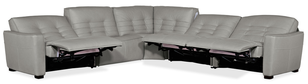 Hooker Furniture - Reaux Leather Power Motion Sectional with Three Recliners