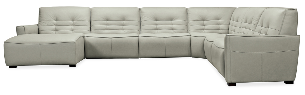 Hooker Furniture - Reaux Grandier Six piece Left Arm Facing Chaise Sectional with Two Recliners