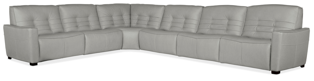 Hooker Furniture - Reaux Power Motion Sectional with Three Recliners