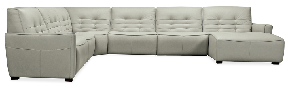 Hooker Furniture - Reaux Grandier Six piece Right Arm Facing Chaise Sectional with Two Recliners
