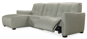 Thumbnail of Hooker Furniture - Reaux Leather Power Motion Sofa with Left Arm Facing Chaise