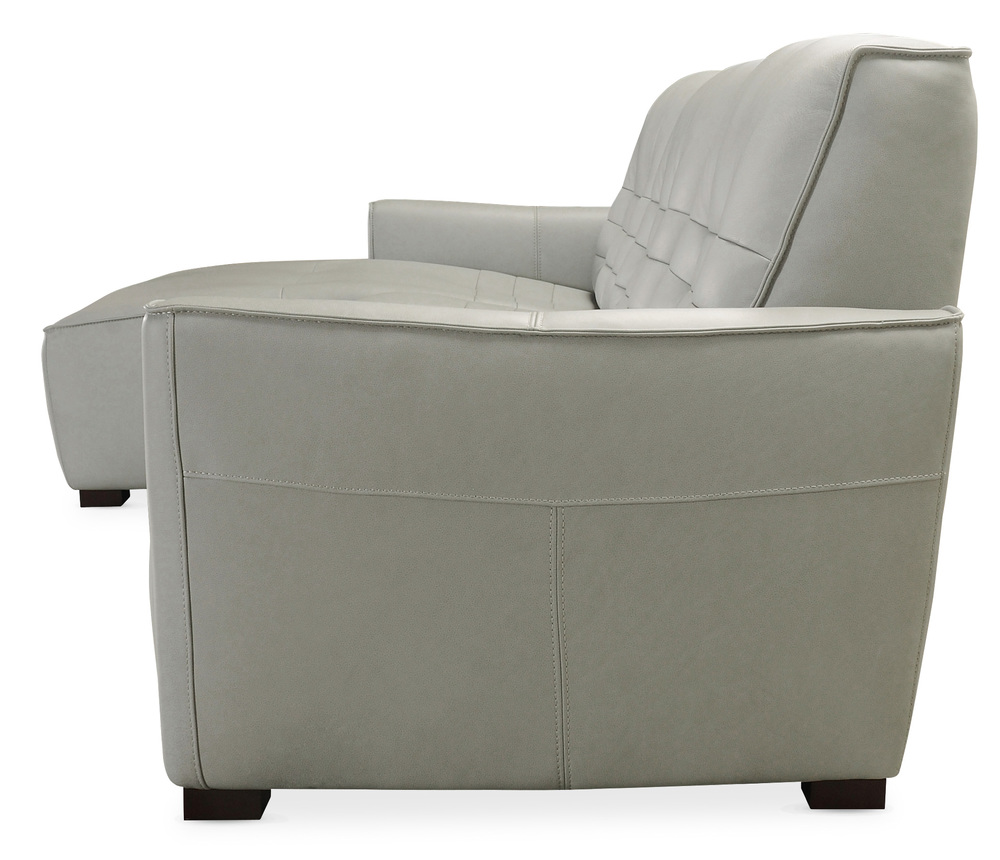 Hooker Furniture - Reaux Leather Power Motion Sofa with Left Arm Facing Chaise