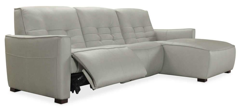 Hooker Furniture - Reaux Leather Power Motion Sofa with Right Arm Facing Chaise