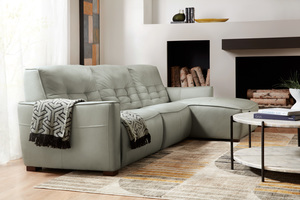 Thumbnail of Hooker Furniture - Reaux Leather Power Motion Sofa with Right Arm Facing Chaise