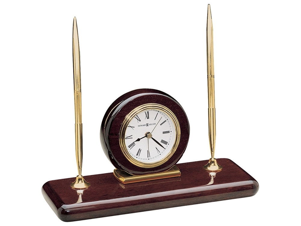 Howard Miller Clock - Rosewood Desk Set