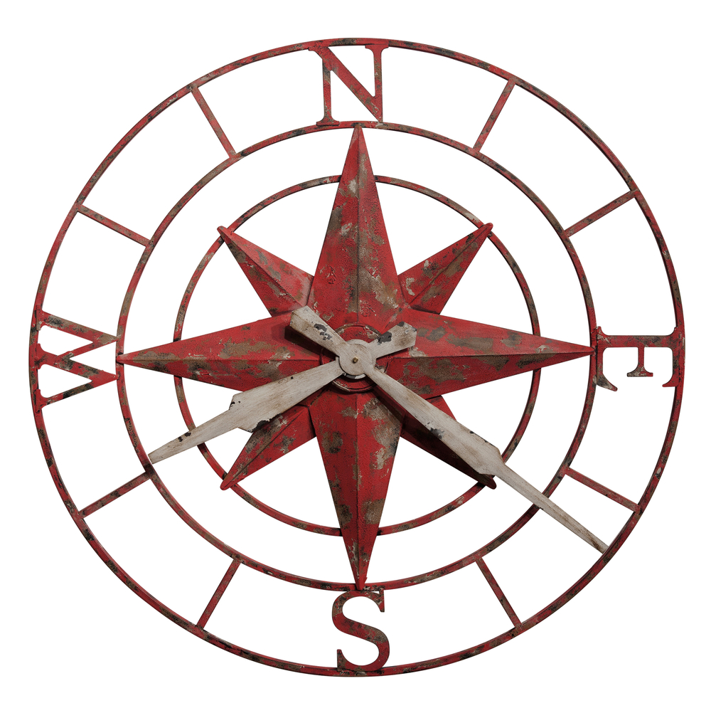 Howard Miller Clock - Compass Rose Wall Clock