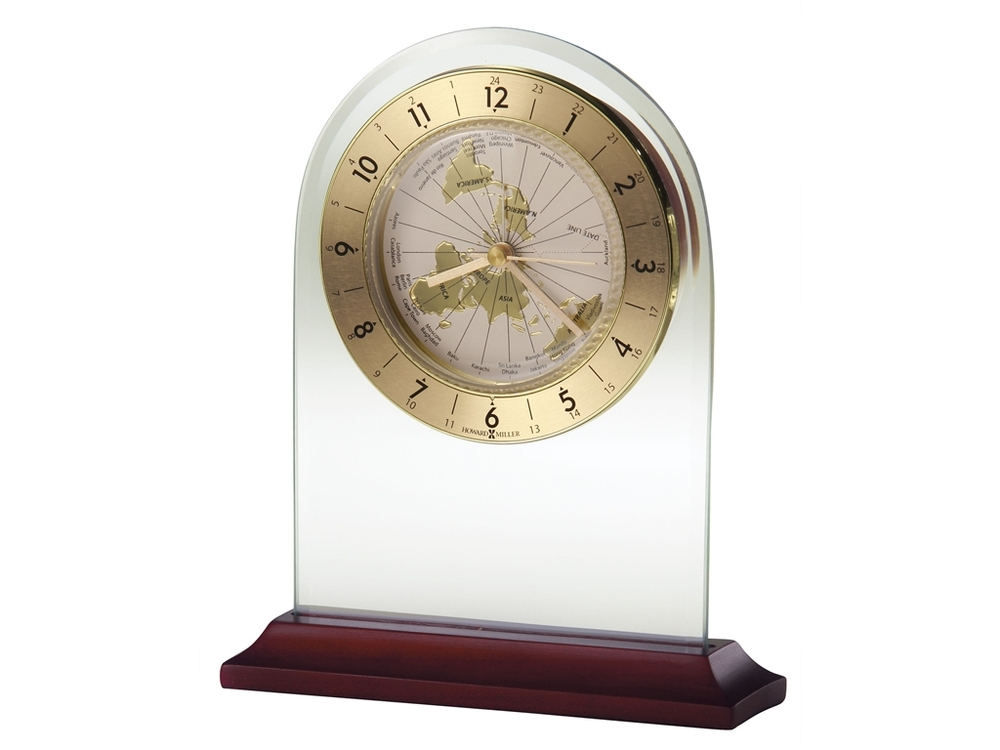 Howard Miller Clock - World Time Arch Table Top Clock
