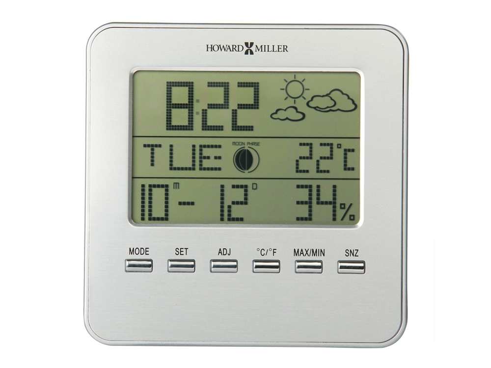 Howard Miller Clock - Weather View Alarm Table Top Clock