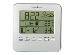 Thumbnail of Howard Miller Clock - Weather View Alarm Table Top Clock